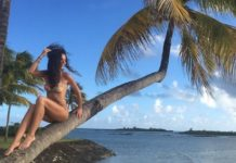 Laura Barriales, vacanze hot a Mauritius